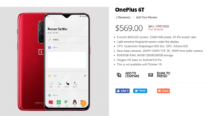 oneplus 6t prezzo e caratteristiche