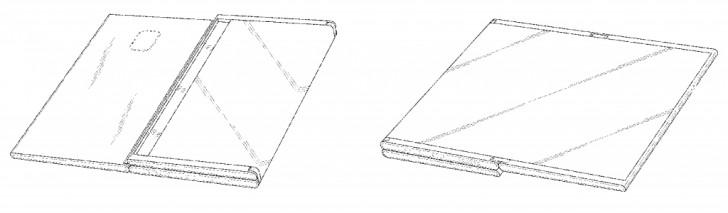 Samsung smartphone pieghevole brevetto immagine
