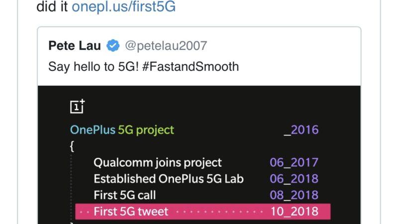 OnePlus 7 non supporterà la rete 5G