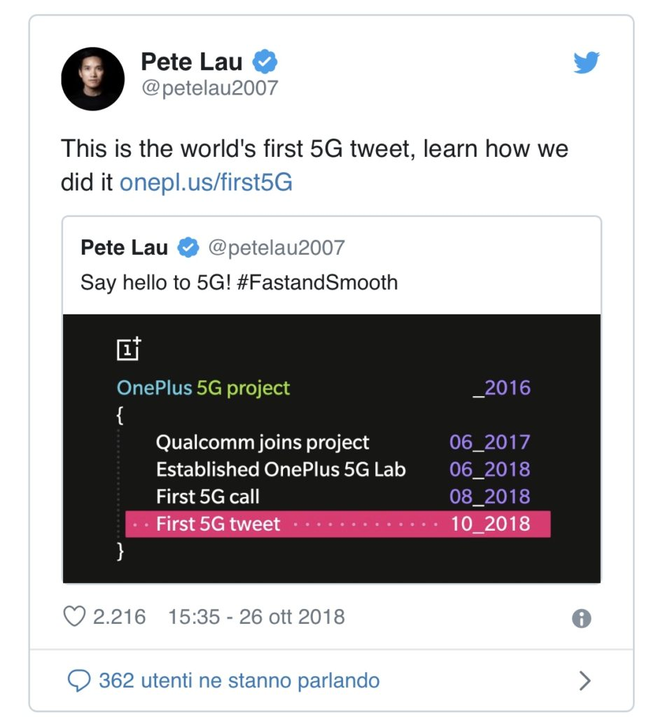 Oneplus 7 connessione 5g