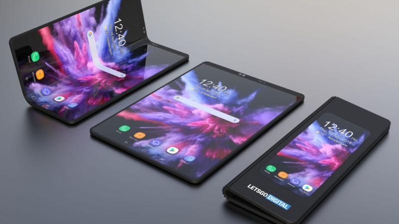 samsung galaxy f smartphone flessibile