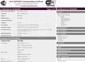 Galaxy M20 certificazione Wi-Fi