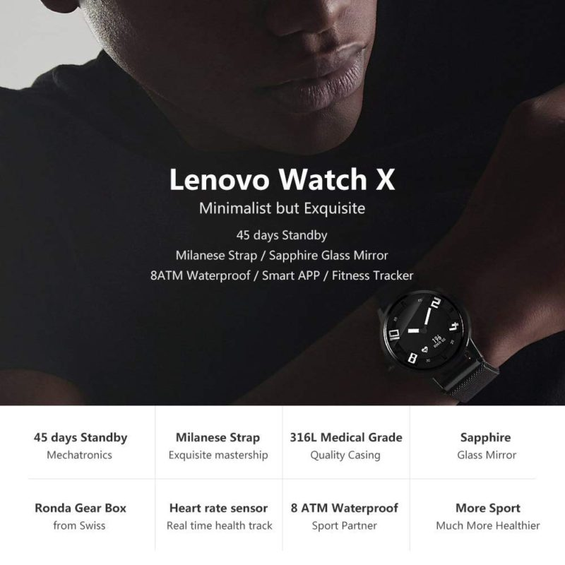 Lenovo watch X funzioni