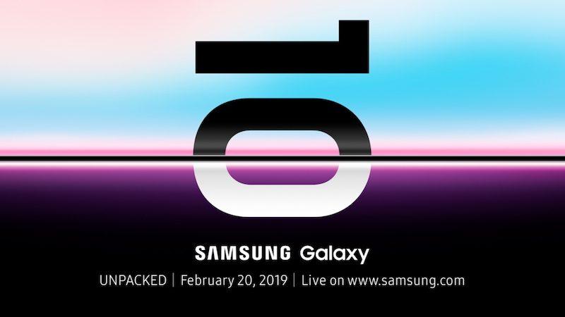Samsung galaxy s10 invito evento presentazione