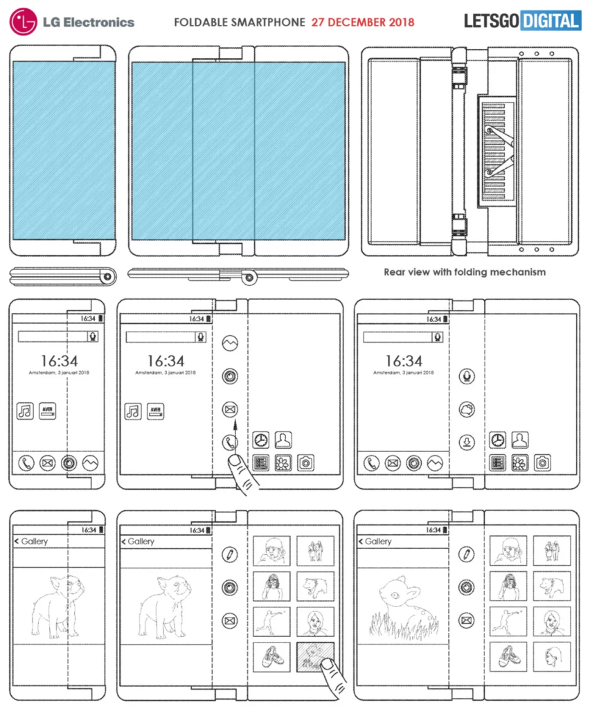 Lg smartphone pieghevole brevetto
