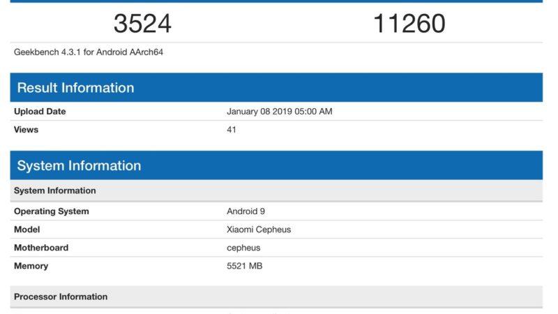 Xiaomi Mi 9 benchmark