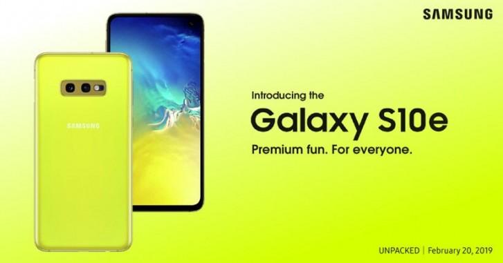 samsung galaxy s10e colorazione gialla