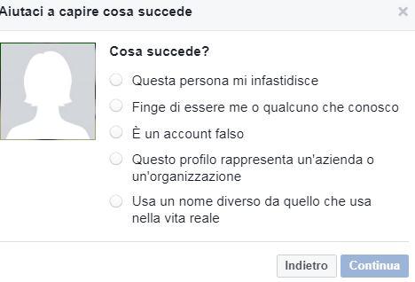 come segnalare un profilo facebook
