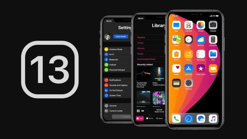 iOS 13 aggiornamento funzionalità