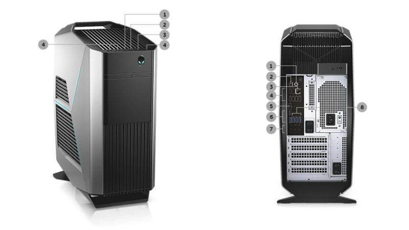 Dell Alienware Aurora Porte usb