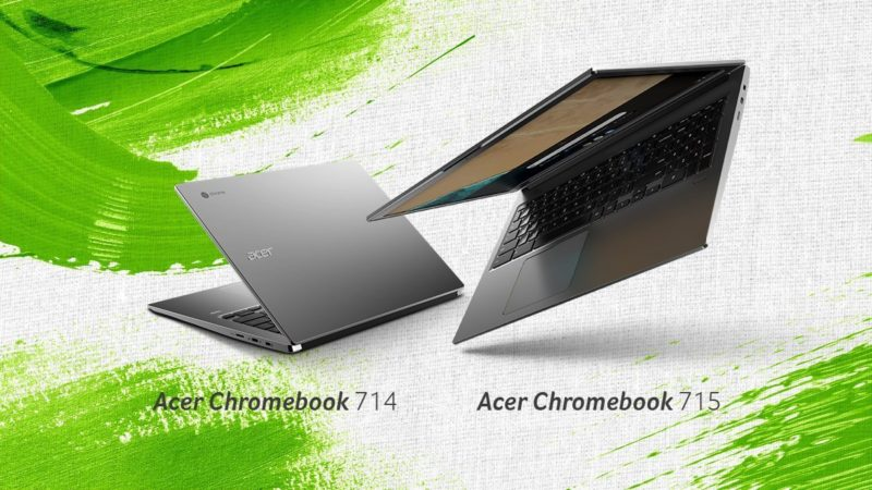 Acer Chromebook 714 e 715 design