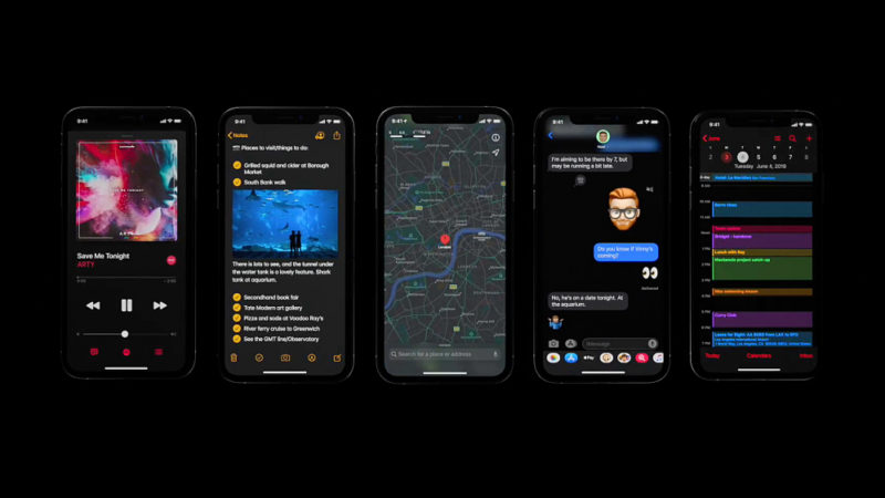 iOS 13 schermate