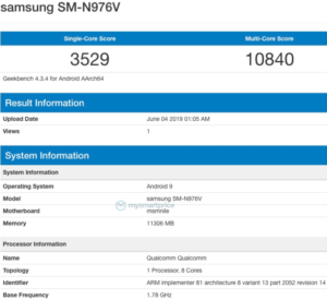 Samsung galaxy note 10 geekbench