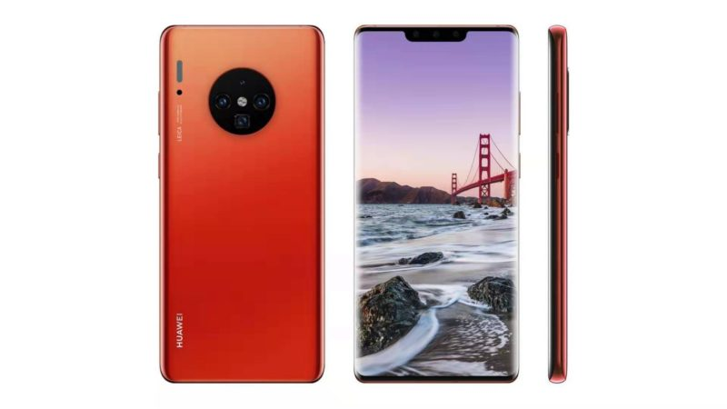 HUAWEI mate 30 pro render ufficiale