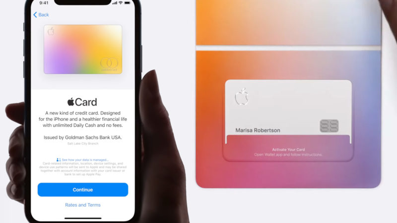 apple card presentazione negli usa
