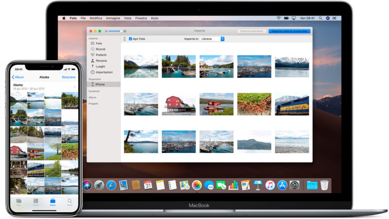 Come importare foto da iPhone a Mac