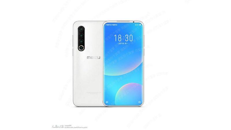 Meizu 17 5G render stampa