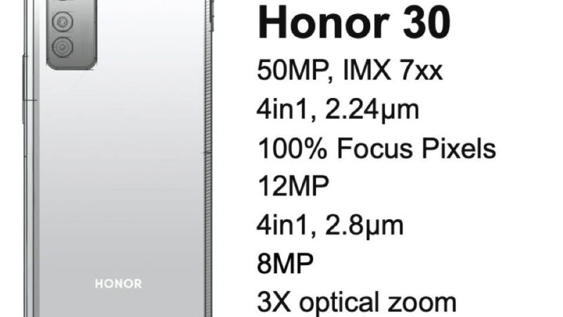 honor 30 design