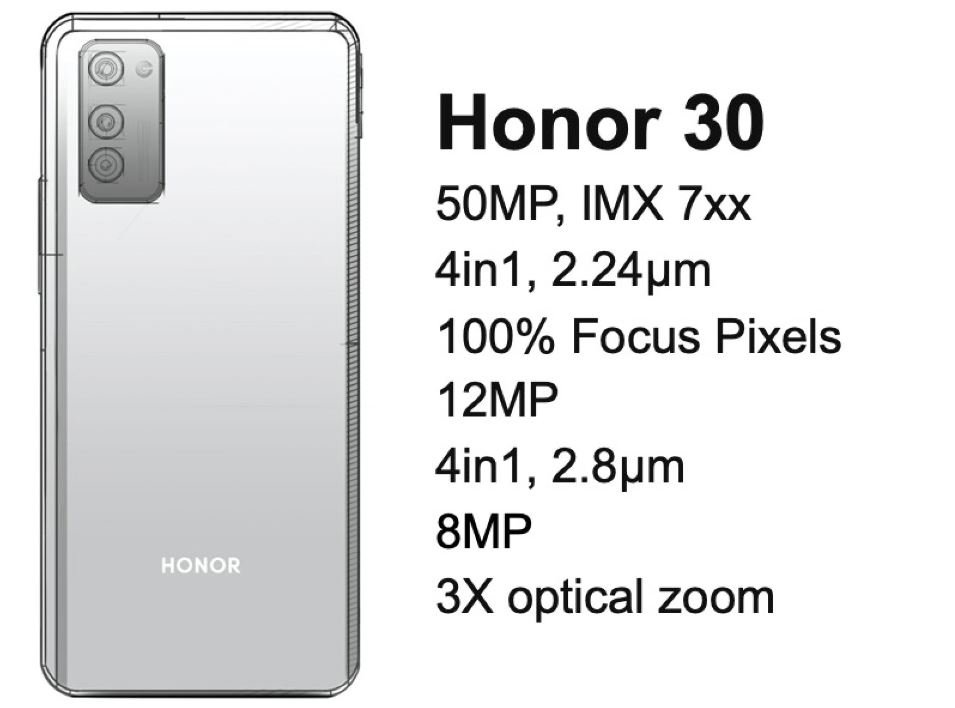 honor 30 design